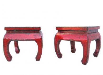 antikes China kleine Hocker in traditioneller Gestaltung antikrotes Pinienholz - Vorschau
