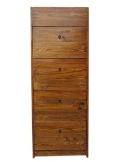 China Schuhschrank Holzfarbebe Pinie 4 Breite Fächer Und Seitliche Schübe