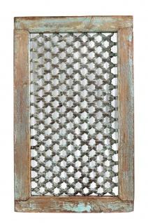India Fenster Rahmen Gitter Zierpanell Hartholz Rajasthan 70 Jahre alt