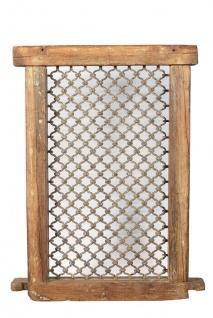 India Fenster Rahmen Gitter Metall und Holz Rajasthan etwa 70 Jahre alt
