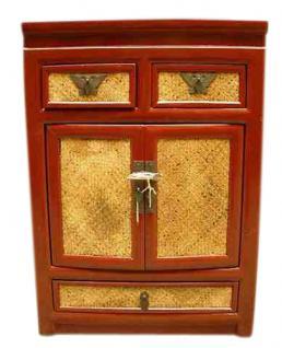 Kleine Kommode Schubladen und Türen Nachtschrank - Vorschau