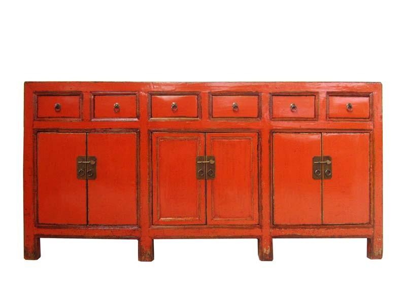 China Sideboard Rot Echt Antik 130 Jahre Alt