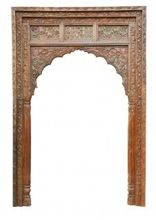 Indien Inneneinbau Tor Tür Rahmen breit Dekorbogen Schnitzerei Luxury-Park