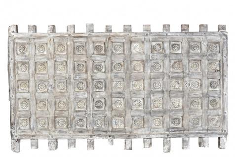 Indien Kassetten Decken Panel naturbraunes Holz geschnitzt etwa 80 Jahre alt Rajasthan