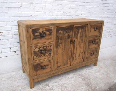 shabby chic CHINA massive cabinet buffet natural pine stained como I D SD.D.25 - Vorschau