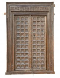 Indien 1910 breite Tür Tor massiver Rahmen zauberhaft gestaltet von Luxury Park