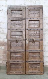 Indien massive Tür antik Teak VI-ED-029