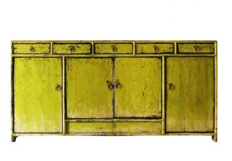 Chinesisches Sideboard aus natürlichem Holz in modischem Gelb