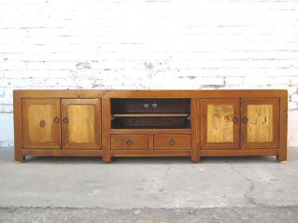 China naturbraune TV Kommode Lowboard für Flachbildschirm two tone finish vintage Holz