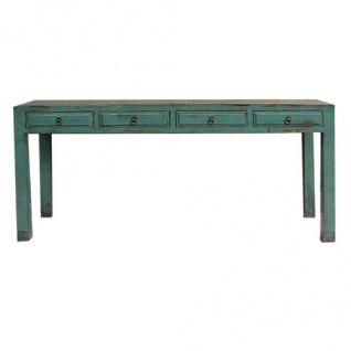 Chinesischer Tisch aus erstklassigem Holz im Used-Look mit Schubladen