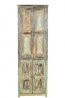 Old India großer Schrank shabby chic schmutzgraue Oberflächen Hartholz Rajasthan 1940