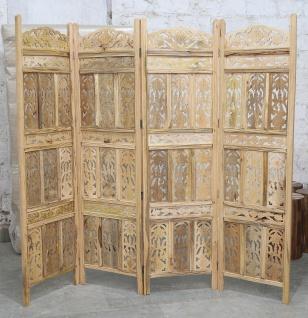 Paravent Raumteiler echtholz filigran geschnitzt
