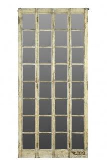 Indien riesiger raumhoher Spiegel heller Holzrahmen gefertigt von antiker Türe