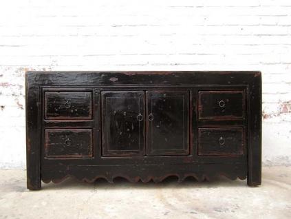 Small Size Lowboard antik schwarz