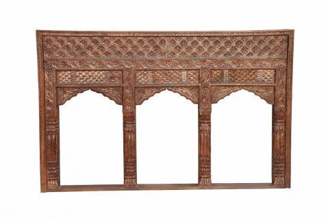 INDIA Mughal Empire Stil Dreier Bögen Fensterrahmen geschnitztes Holz D ED-11-23 - Vorschau