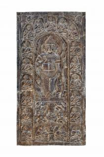Indien massives geschnitztes Wandbild Tür Panel Gottheit