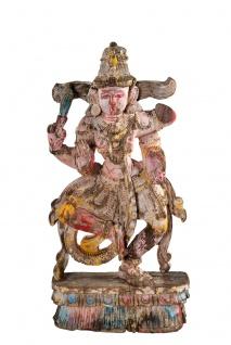 South India feine Skulptur Gottheit dunkles Holz Kunstwerk Einzelstück