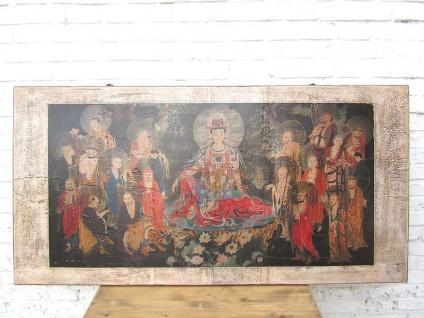 Asien breites Wandbild heller Rahmen Pinie Beijing etwa 80 Jahre alt
