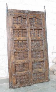 Indien massive Tür antik Teak VI-ED-020 Antik Mosaik