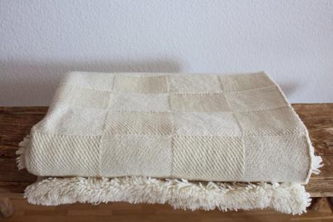 Wolldecke weiß aus Merinowolle 100% BIO, 100% natürlich