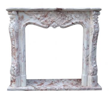 Bunter Marmorkamin Kamine Barocker Stil Umrandung Preise Kaminumrahmung - Vorschau