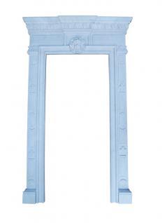 Raumhoher Marmor Rahmen weiß Kamin Kaminverkleidung Kamine Stil Türrahmen