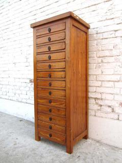 China halbhohe Kredenz Schubladenkommode Büro Sammlerschrank Pinie goldbraunes finish hier bei Luxury-Park