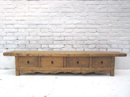 China 1890 Landhaus Stil TV Konsole Anrichte Lowboard für Flatscreen vier Schubladen Ulme von Luxury-Park - Vorschau