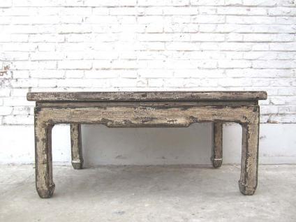China shabby chic niedriger Tisch schlichte Form altweiss lackierte Pinie starke Gebrauchsspuren von Luxury-Park - Vorschau