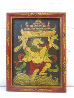 Original China prächtiges Wandbild bäuerliche Ernteszene in antiken Farben auf lackiertem Holz von Luxury-Park - Vorschau