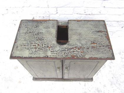 China kleine Kommode Waschtisch Unterschrank lackiertes Pinienholz schmutzgrau shabby chic look von Luxury Park - Vorschau