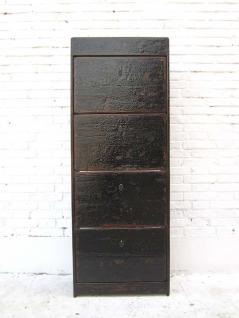 China hoher klassischer Schuhschrank Kommode massive schwarz lackierte Pinie von Luxury Park - Vorschau