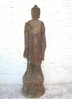 Buddha stehend China Lebensgroße Skulptur Pappelholz 70 Jahre alt von Luxury Park - Vorschau