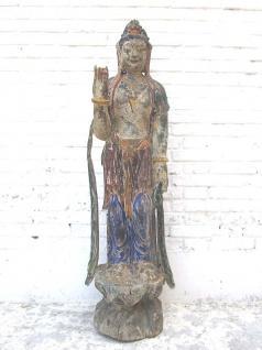 Guanyin stehend große Skulptur Pappelholz China 60 Jahre alt von Luxury Park - Vorschau