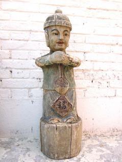 China Kleiner Junge Holzfigur Skulptur bemalte Pappel 80 Jahre alt von Luxury Park - Vorschau