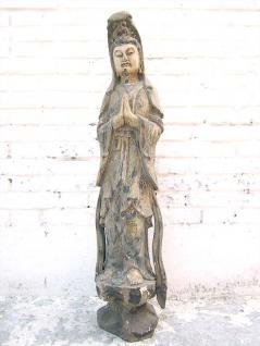 Bodhisattva Guanyin betend feine Skulptur Pappelholz China 1920 von Luxury Park - Vorschau