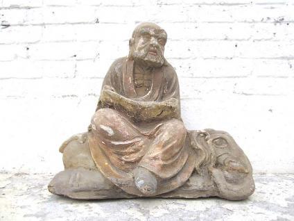 Skulptur der Reiche sitzend auf Elefant Figur Pappelholz rund 100 Jahre alt von Luxury Park - Vorschau