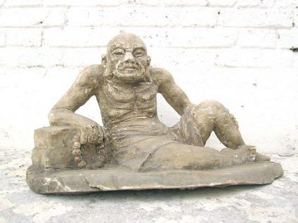 Skulptur Greis alter Mann Lazarus buddhistisch Pappel rund 80 Jahre alt von Luxury Park - Vorschau