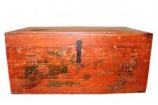 China 1880 klassisch antike große Truhe Box Massivholz