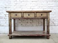 China kleine Anrichte Garderobentisch Schreibtisch Pinienholz altweiß