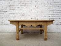 China Shanxi um 1860 kleiner traditioneller Tisch aus hellem Pinienholz