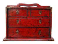 China herrliche antike Schmuckschatulle mit 4 Schubladen für Ihre Kostbarkeiten