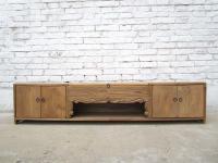 China Jilin um 1900 Lowboard flache Anrichte ideal für Flachbildschirm Pinienholz