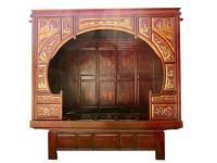 China 1860 traumhaft schönes Bett Alkovenbett außergewöhnlich bemalt