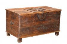 India ca 1930 alte Truhe Kassette Box rustikales finish Rajasthan