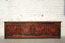 Tibet 1930 Flache Kommode Lowboard ideal für TV Fernseh Bildschirm Pinie