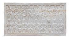 Indien großes Wandbild Dekor Holztafel Naturtöne Ethno Art bei Luxury Park