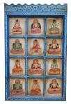 Indien wunderschönes klassisches Wandbild traditionelle Motive