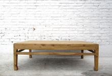 CHINA Shanxi 1860 antique table natural pine wood CINA tavolo basso I D SD.D.38