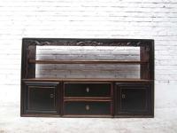 China shabby chic breite Kommode Regal Anrichte Sideboard Pinie antik schwarz 70 Jahre